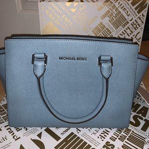 Light Blue Michael Kors Hand Bag